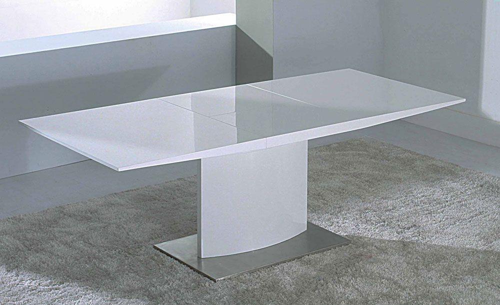 lacquer furniture modern. White-lacquer-extendable-dining-table Lacquer Furniture Modern N