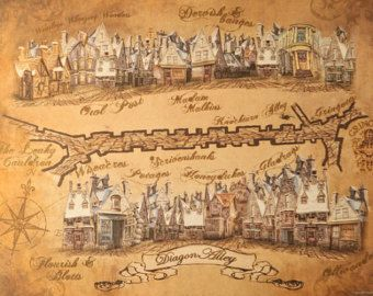 Harry Potter Diagon Alley Map | Harry potter diagon alley ... on iowa county map, j.k. rowling map, ministry of magic map, wizard map, harry potter alley map, charing cross galloway street map, oklahoma tornado alley map, chamber of secrets map, hogwarts map, home map,