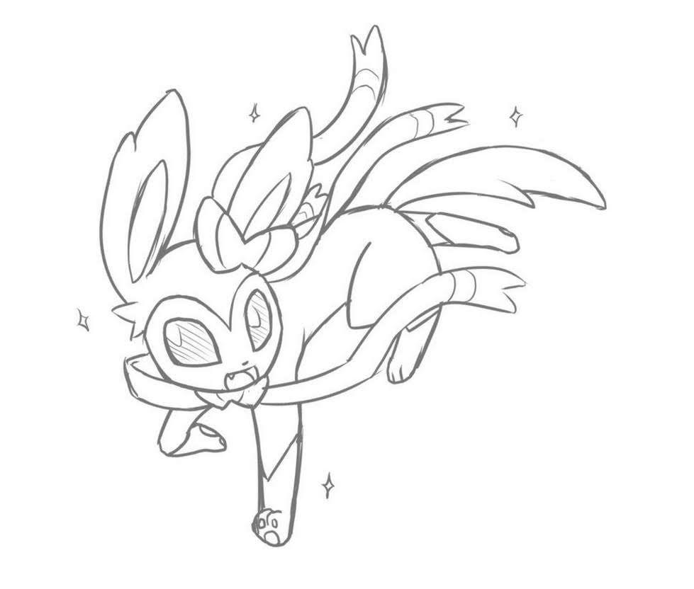 Sylveon Pokemon Drawing Page Pokemon Coloring Pages Pokemon Drawings Pokemon Coloring