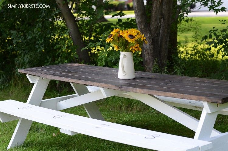 Farmhouse Style Picnic Table Farmhouse Picnic Table Outdoor
