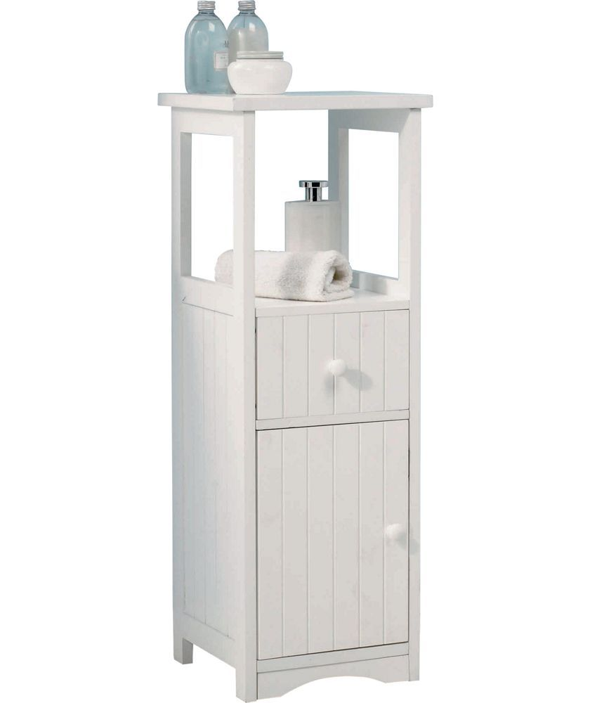 Buy Tongue and Groove Bathroom Storage Unit - White at Argos.co.uk