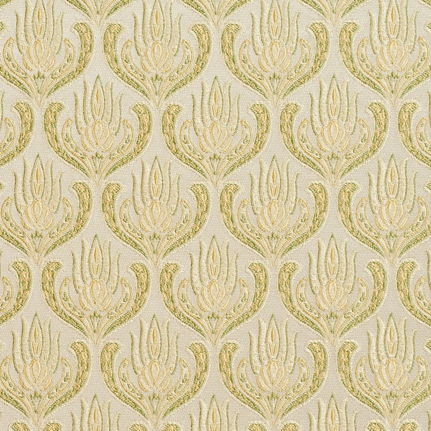 Gold And Light Green Ornate Oriental Heirloom Foliage Brocade Upholstery Fabric Tapestry Fabric Upholstery Fabric Fabric
