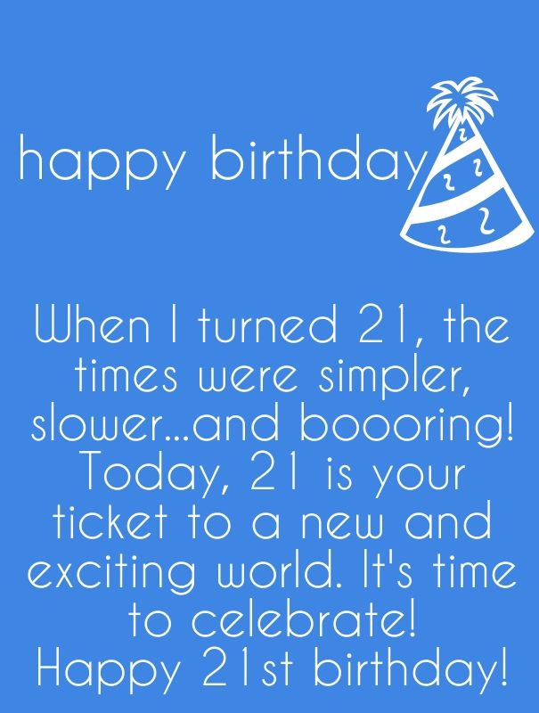 Funny 21st Birthday Quotes 21st Birthday Words and Texts | Best Quotes | Birthday Quotes  Funny 21st Birthday Quotes
