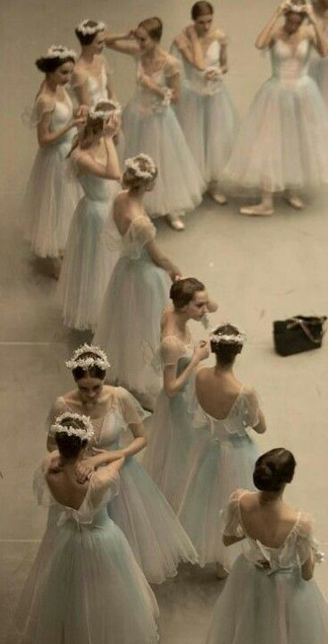 Primping before the performance - Moscow Ballet.  Photo by Nikolay Krusser