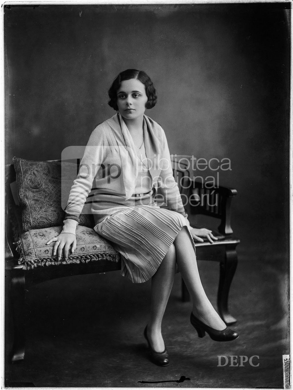 Teresa Díaz, Fotografia de Eugenio Courret, publicada en 1929 - Biblioteca Nacional del Perú