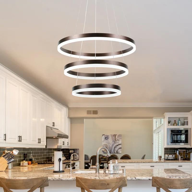 salzmann 3 light led chandelier led