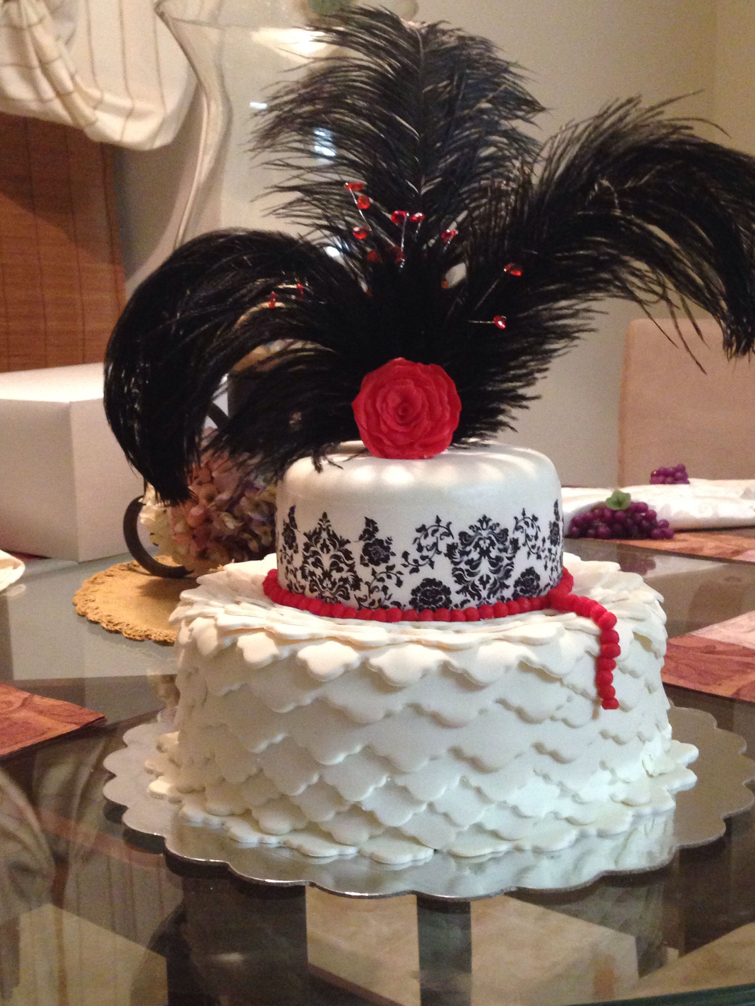 My Roaring 20s Cake With Images Roaring 20s Party Gatsby Cake