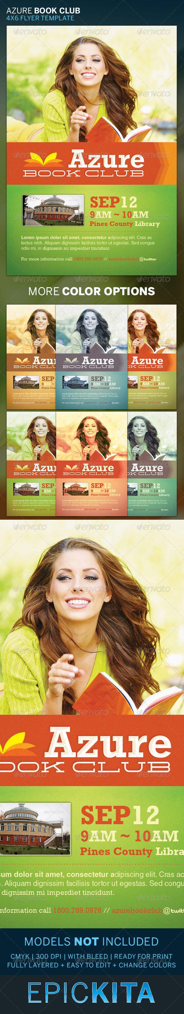 Azure Flyer Template   Azure Book Club Flyer Template Pinterest Flyer Template Book