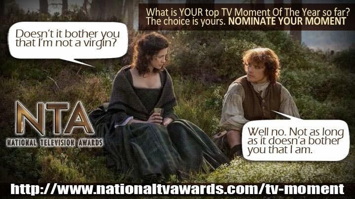 """""""@SamHeughan @Writer_DG @caitrionambalfe PL RT! Lets get those nominations in!!!"""""""
