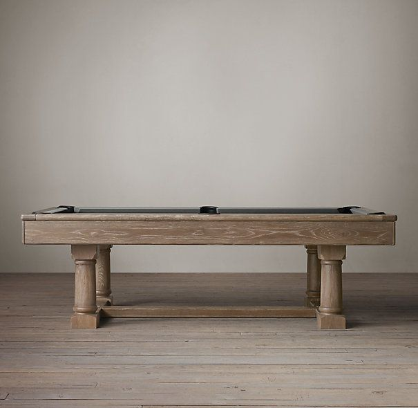 Brunswick Tournament Billiards Table Restoration Hardware W L - Restoration hardware pool table