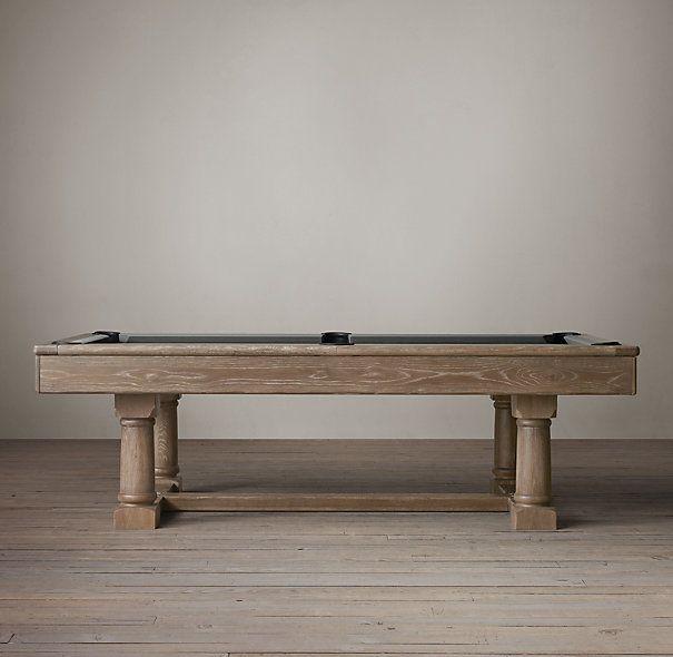 Brunswick Tournament Billiards Table Restoration Hardware 56 W 99 L 32 H