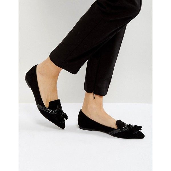 ASOS LOX Pointed Loafer Ballet Flats