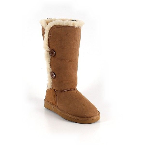 Pre-owned Ugg Australia Boots ($50) ❤ liked on Polyvore featuring shoes, boots, brown, ugg australia, ugg® australia shoes, ugg australia boots, pre owned shoes and brown boots