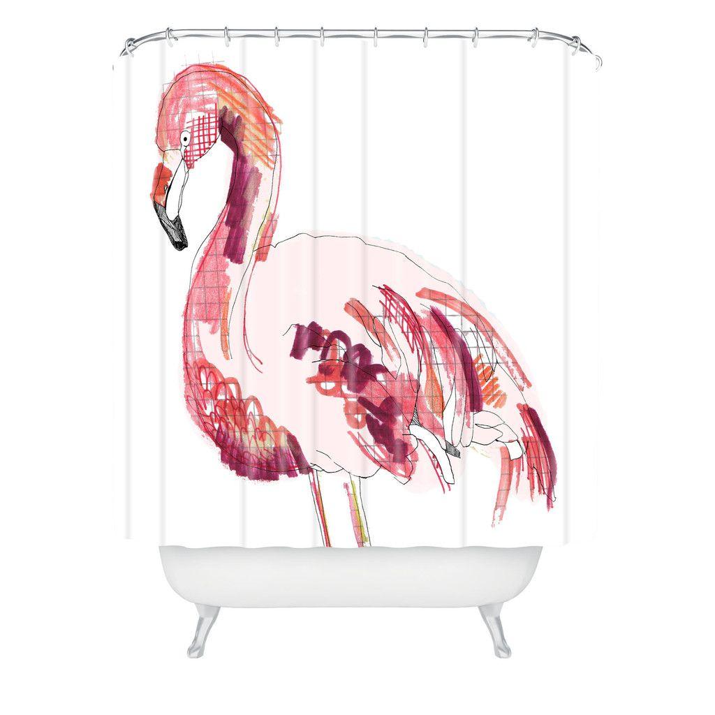 Creer Salle De Bain Dans Une Chambre ~ Casey Rogers Flamingo 1 Shower Curtain Pinterest