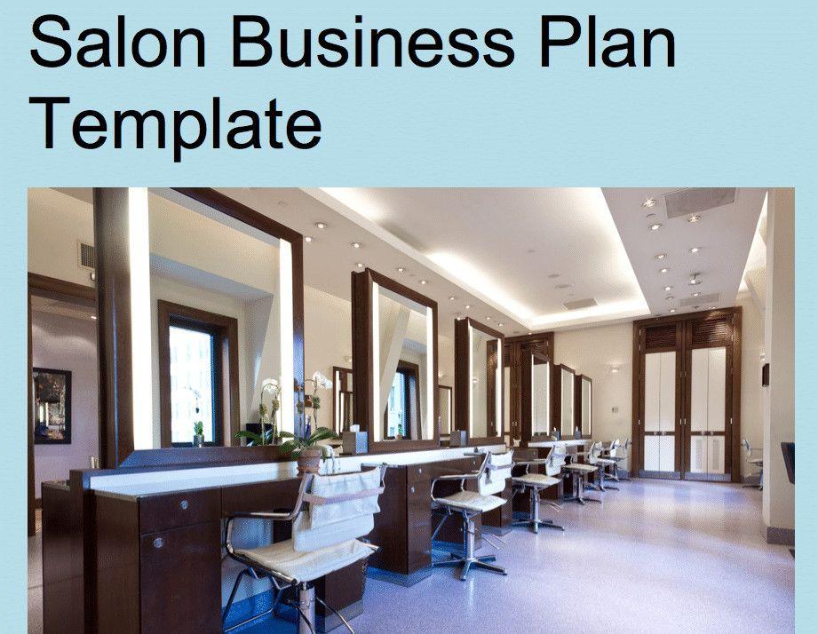 Salon Business Plan Template Unique Salon Business Plan