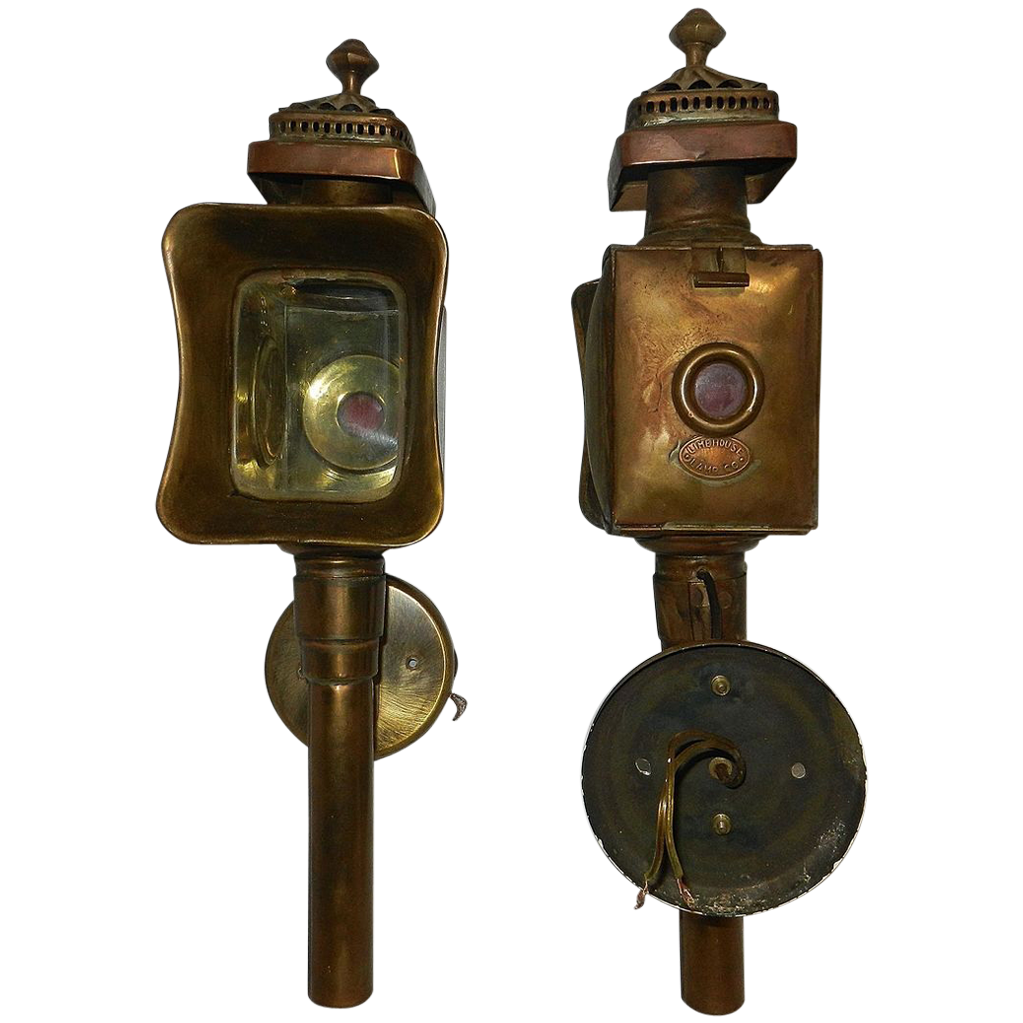 Vintage Electric Wall Mount Br Carriage Lamps By