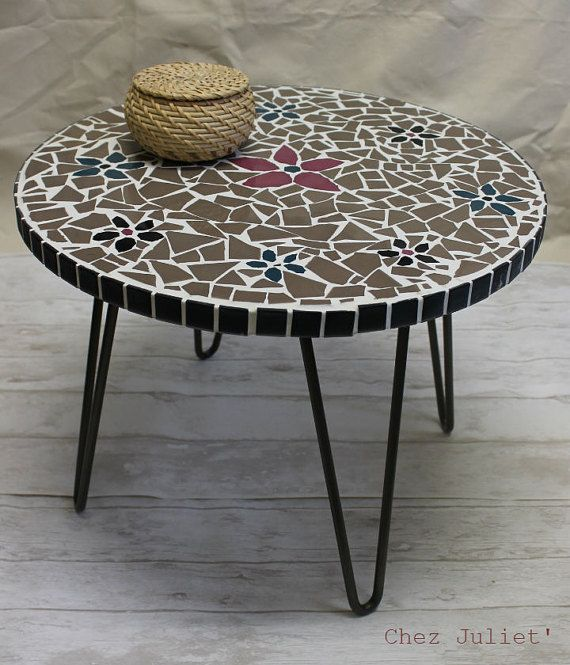 Coffee Table Leg Broken: Mosaic Coffee Table Upcycled By Me. I Have Recycled The