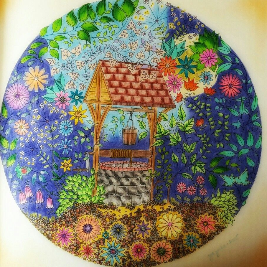 Wishing Well From Secret Garden Coloured By Zsuzsiko Instagram