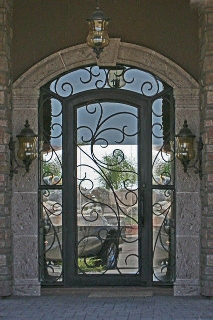 Entry Doors From Dynasty Iron Doors And Love The Mirror Idea