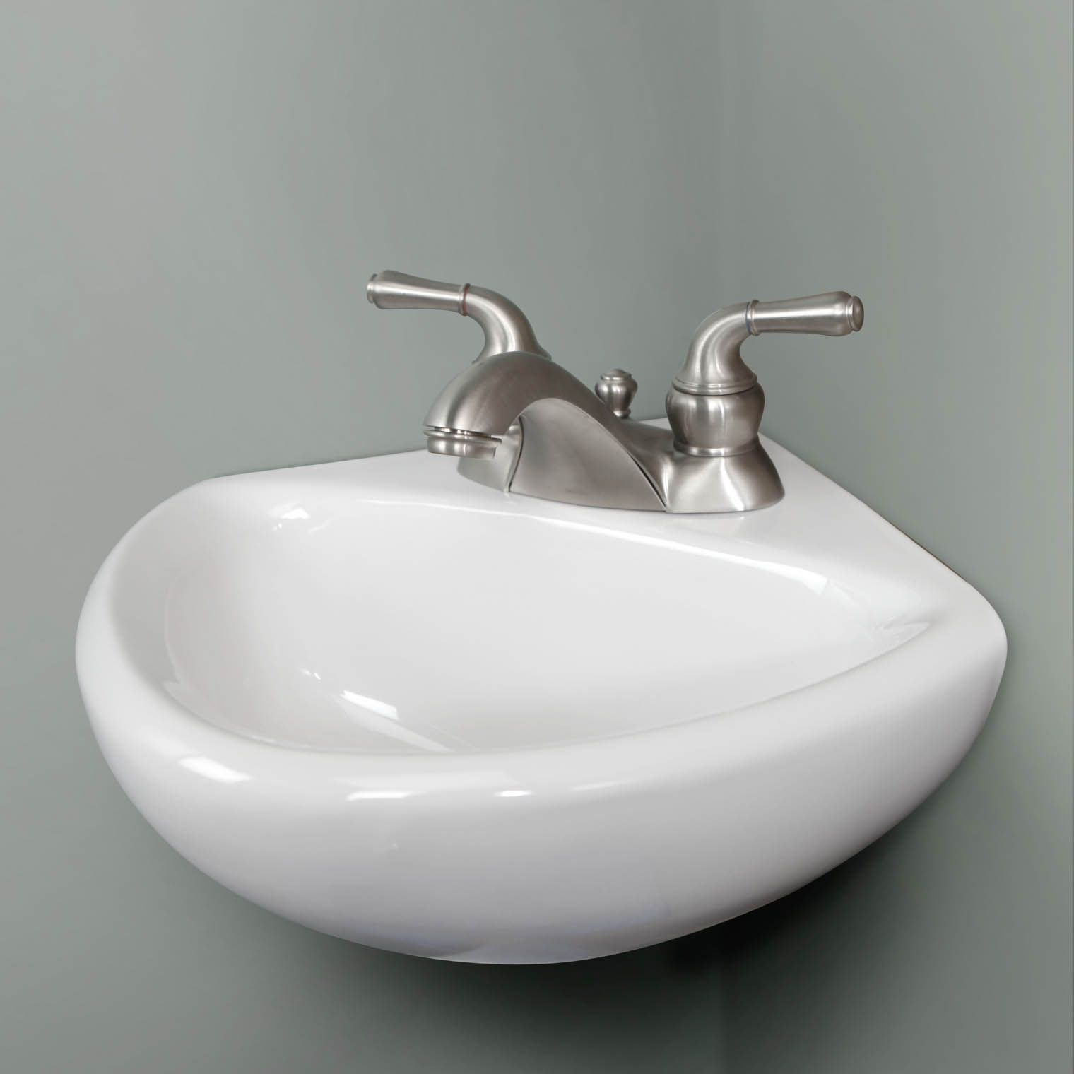 Buy American Standard 0451 021 020 Corner Minette 11 Wall Mount Bathroom Sink Wall Mounted Bathroom Sinks Small Bathroom Sinks Tiny Powder Rooms