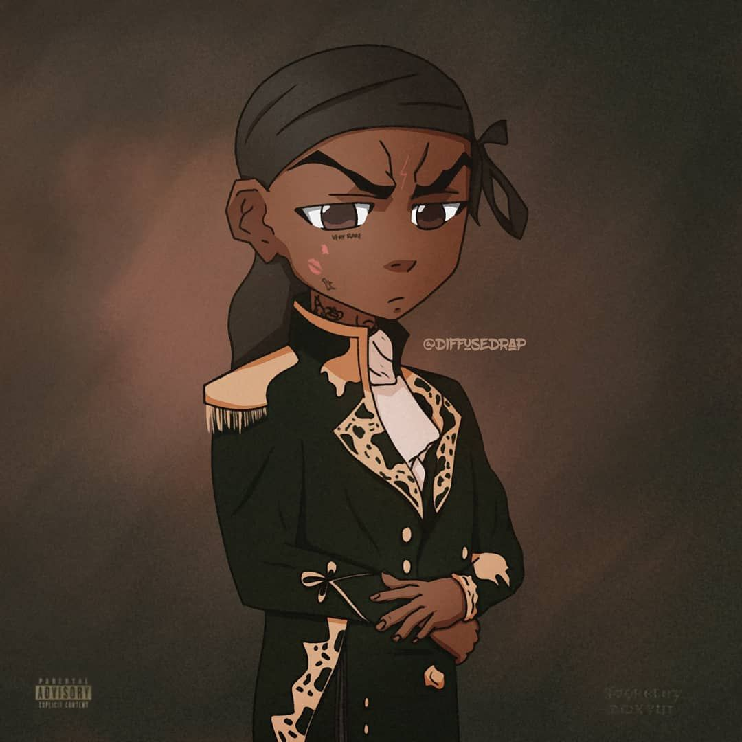 The Slump God Swipe For Process This Is One Of My Favourites Fr Like I Love Ski Anyways But This Turned Ou Black Cartoon Characters Rapper Art Swag Cartoon