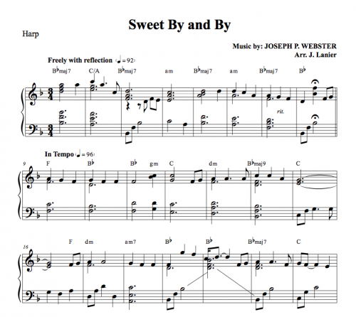 3.00 Harp Music Sweet By and By in 2019 Sweet by, by