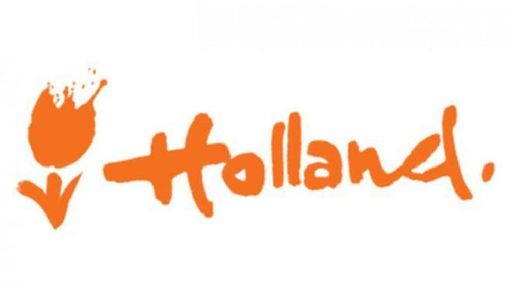 Nieuw internationaal logo NL met gestyleerde oranje tulp