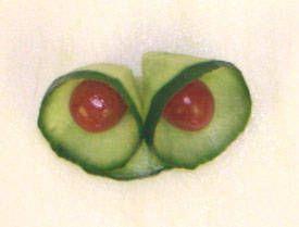 cucumber curls garnish