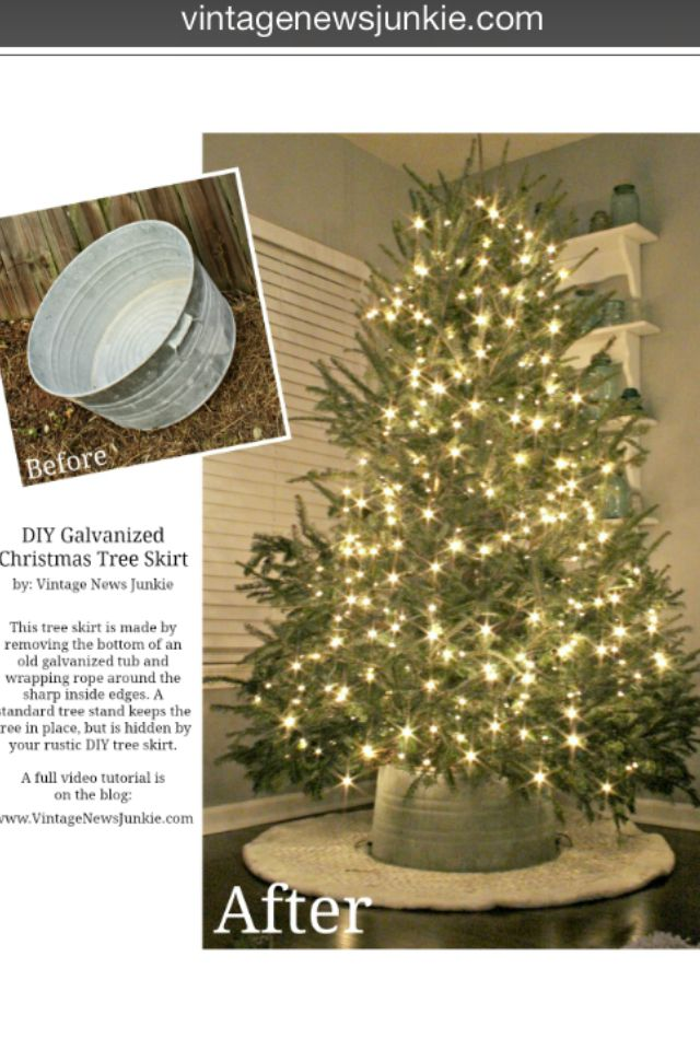 Love I Am So Making This Next Year Diy Galvanized Tub Christmas Tree Stand