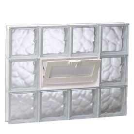 Well Priced Glass Block W Vinyl Air Vent 92 With Images Glass Block Windows Glass Block Basement Windows Basement Windows