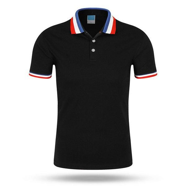 2aa7cadc28 Gender: Men Tops Type: Polos Sale by Pack: No Type: Slim Pattern Type:  Patchwork Color Style: Solid Sleeve Length(cm): Short Feature: Anti-Wrinkle  Brand ...