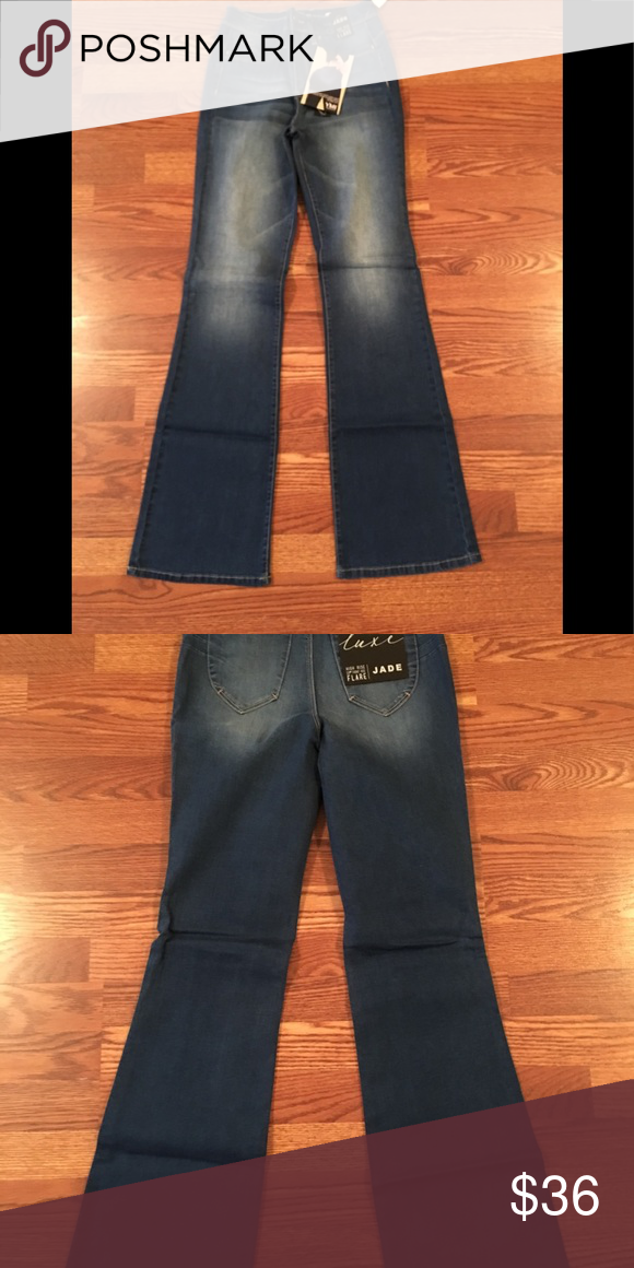 4beed5ad1af829 NEwArrival High Rise Flare Jeans Cute Luxe Lift High Rise Flare Jeans,  Button/ Zipper