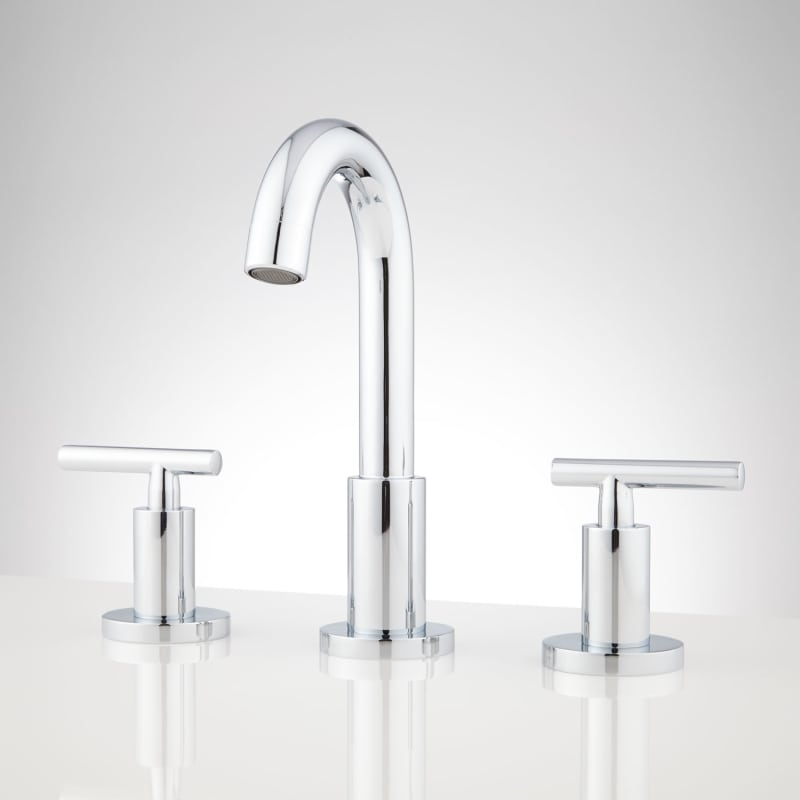 signature hardware 931724 bareva widespread bathroom faucet drain rh pinterest com