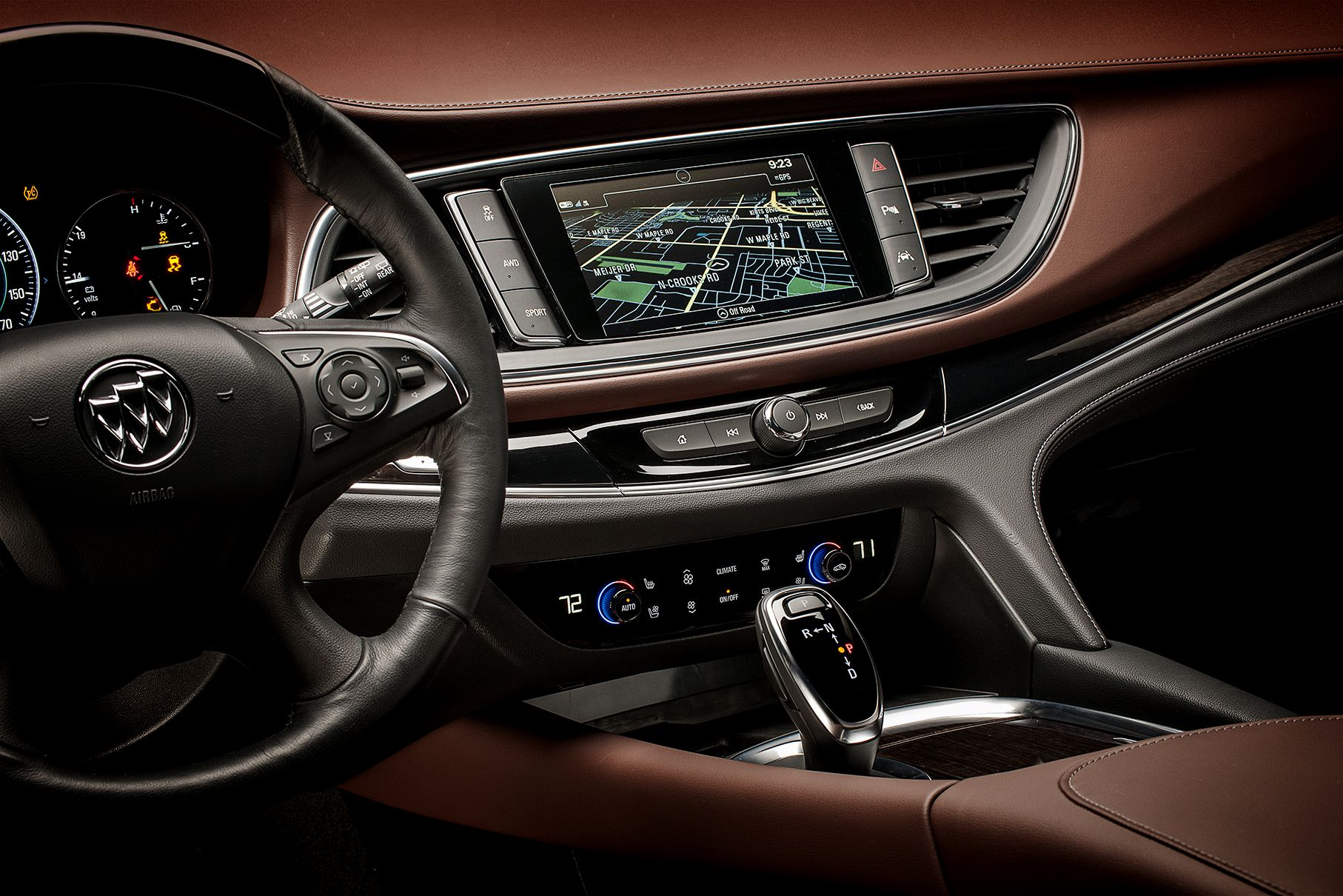 2018 Buick Enclave Avenir Driver Pov Showing Center Stack With Touch Screen Navigation Entertainment And Climate Controls Buick Enclave Buick Navigation
