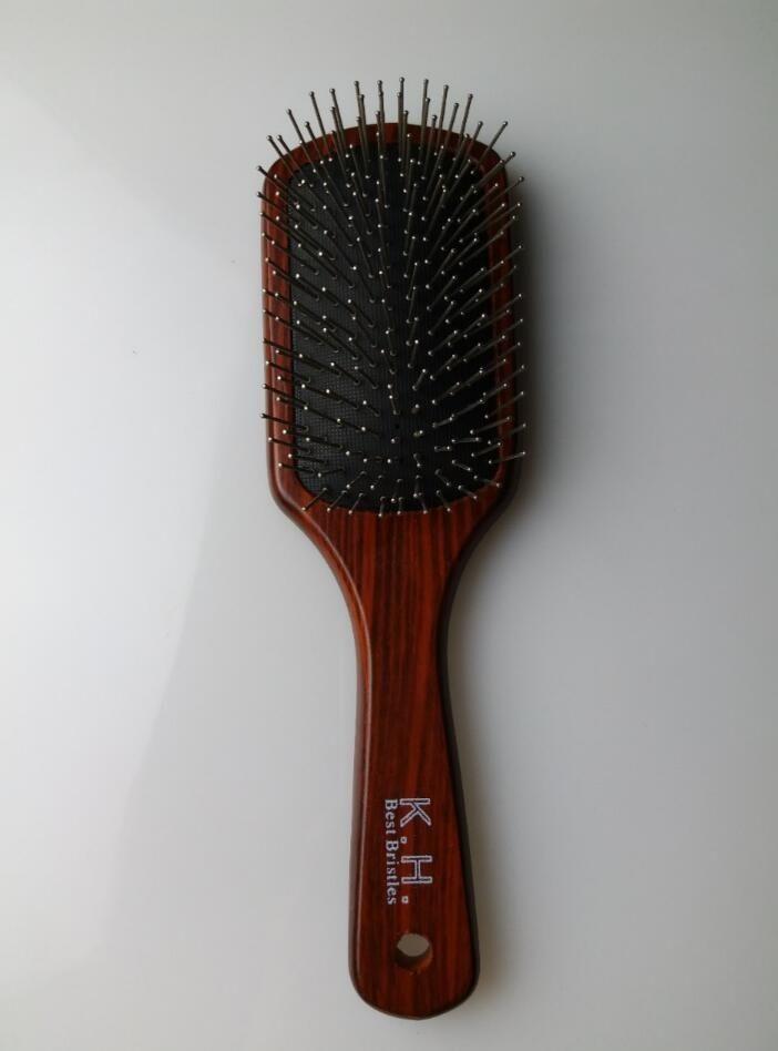 Stainless Steel Bristles Hair Comb Brush Paddle Hair Brush Hair