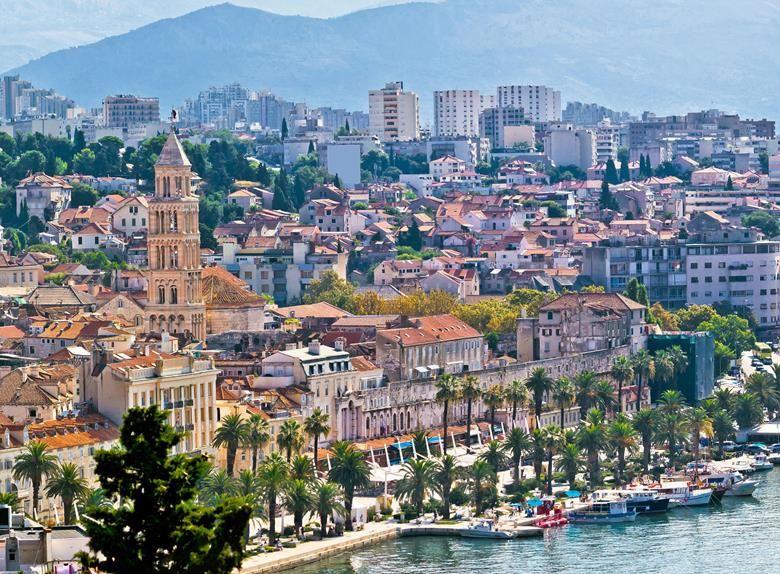 Learn About Fascinating History And See Top Sights Split Croatia Croatiafulloflife Dalmatia Explore Experience Architec Panoramic Art Panorama Aerial