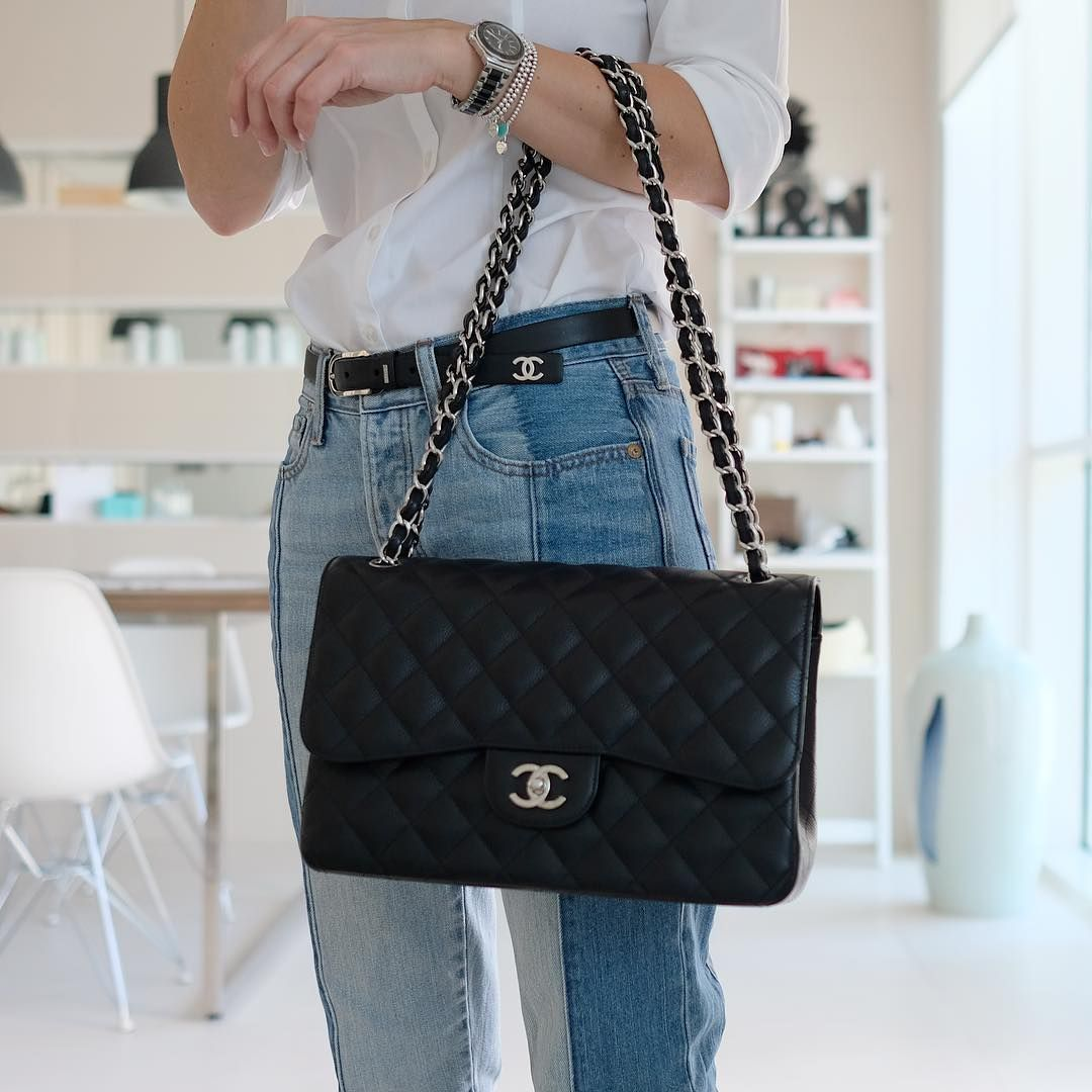 bff329a92b2a1d Chanel Flap Bag In Black. Classic Shoulder Bag For Women. #Chanel #Handbags
