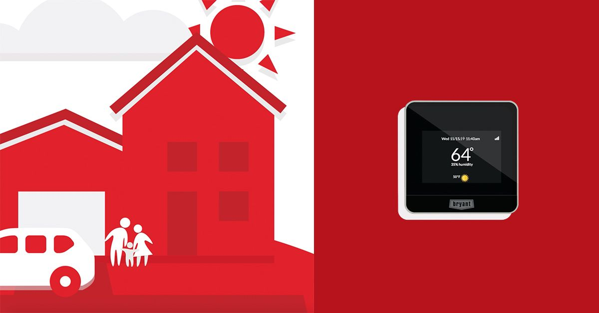Control On The Go With A Bryant Wi Fi Connected Thermostat And