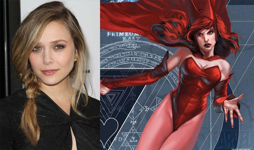 """Elizabeth Olsen estará finalmente en """"Los Vengadores 2"""" encarnando el papel de la Bruja Escarlata."""
