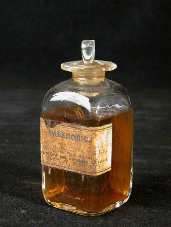 Parecoric bottle 1740 - 1800 Parecoric is tincture of Opium.