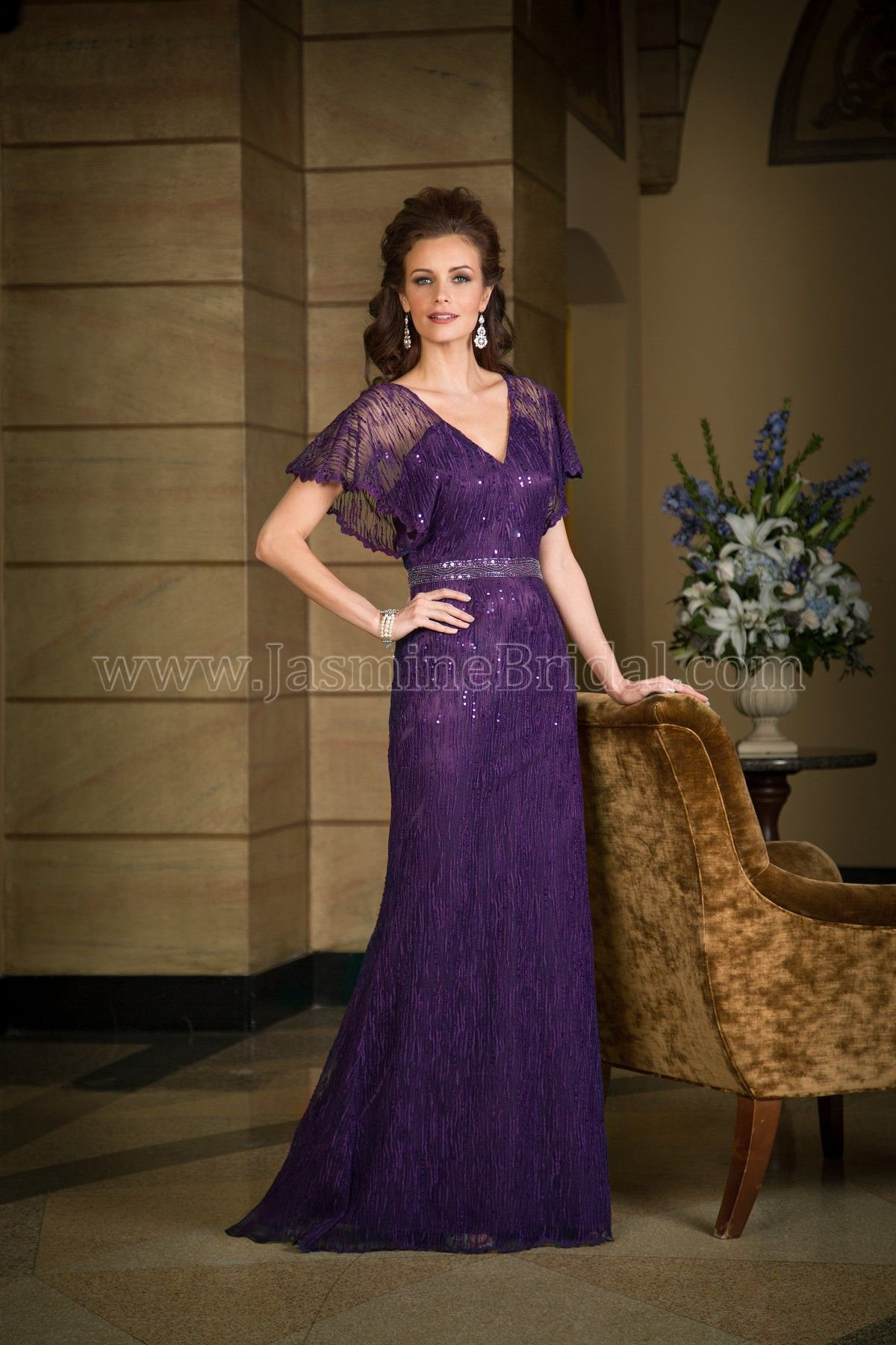 Jasmine Bridal Jade Couture Style K168061 In Lace Malay Satin Color Bordeaux