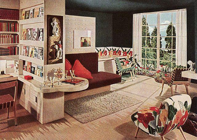 1945 Mid Century Modern Living Room Mid Century Modern Living Room Mid Century Modern Living 1940s Living Room