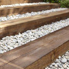 Traverse Droite Kuhmo Bois Marron H 20 X L 205 Cm Chez Leroy Merlin Bordure Jardin Marches Jardin Escalier De Jardin