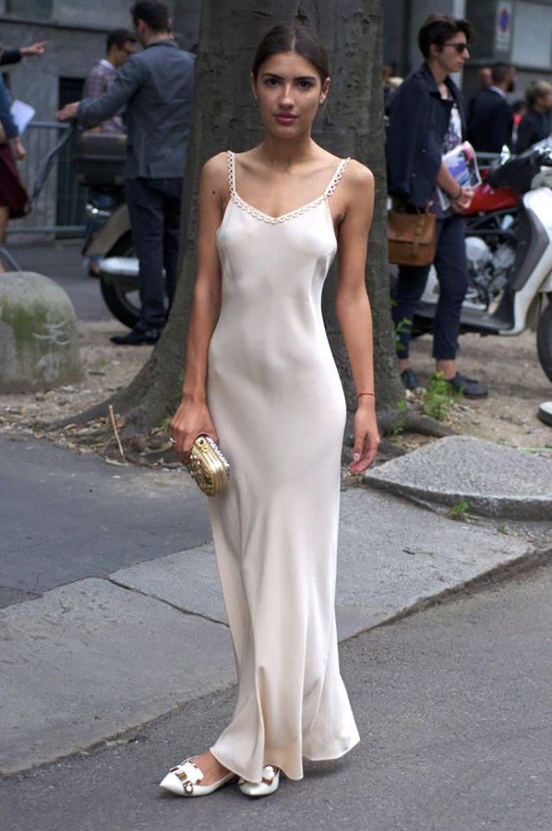 Ninasvintage Fashion Slip Dress Street Style [ 1204 x 800 Pixel ]