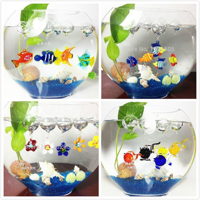 Cheap 12 unids caja decorativo glass fish burbujas adornos - Decoraciones para el hogar ...
