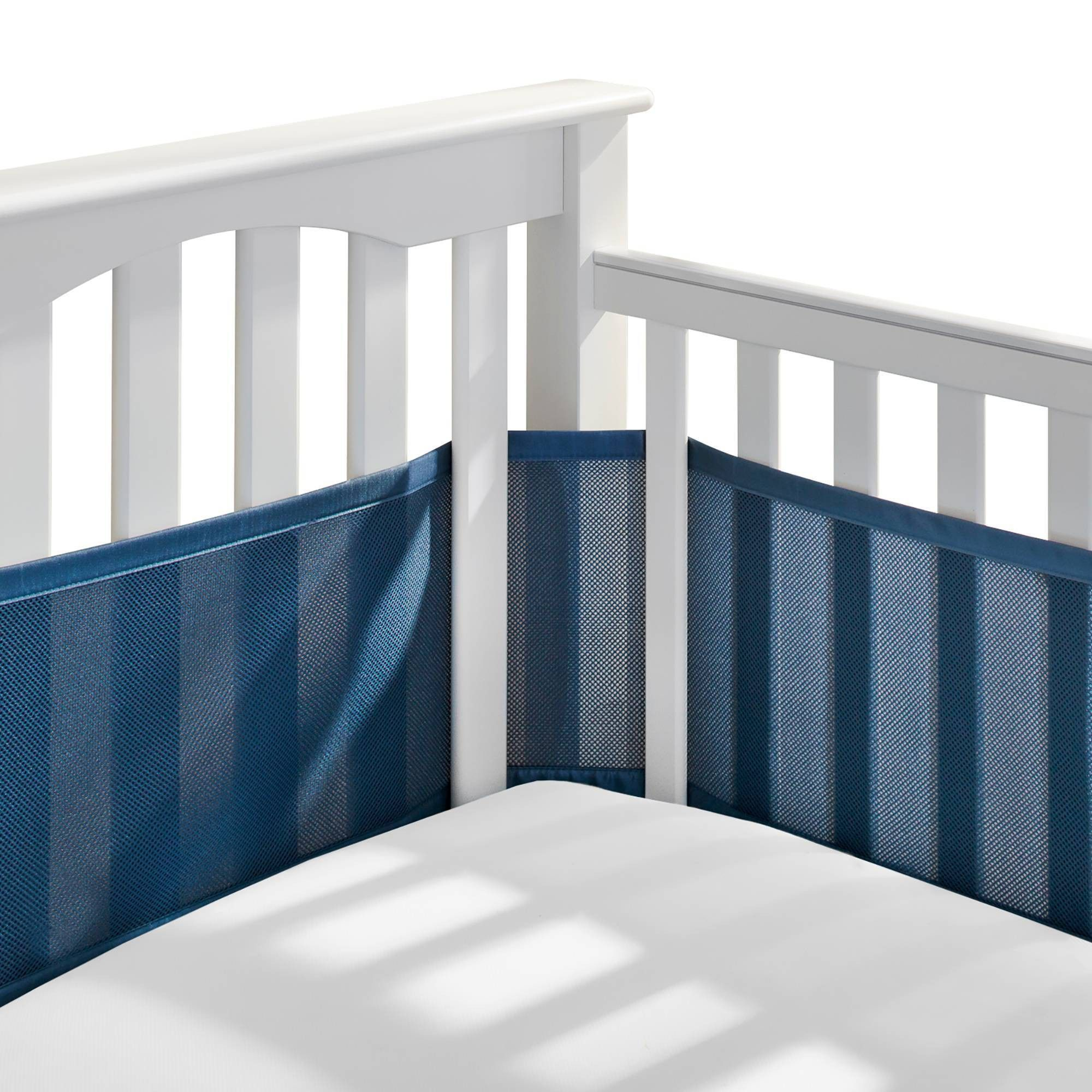 Breathablebaby Mesh Crib Liner Navy Blue Cribs Baby Crib Bumpers Baby Crib Bedding Sets