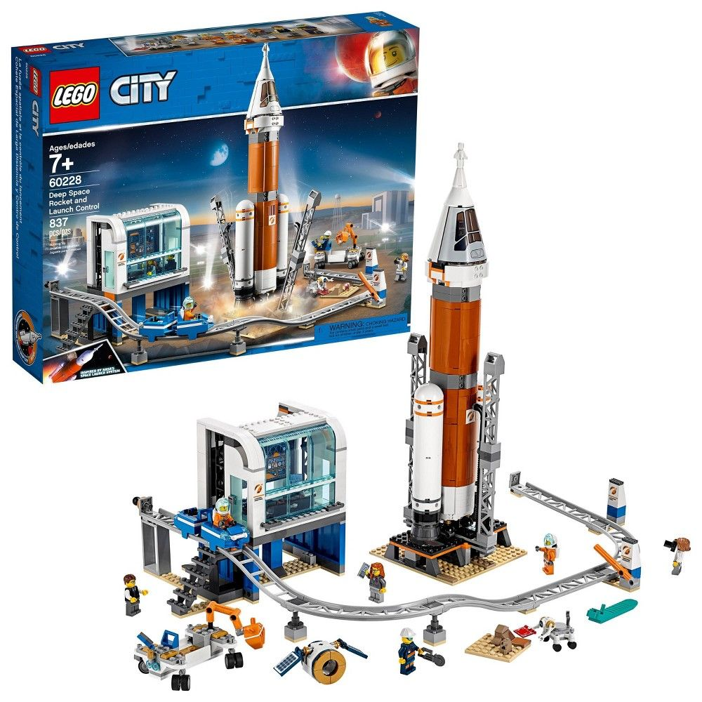 Lego City Space Deep Space Rocket And Launch Control 60228 Model Rocket Building Kit With Minifigures Lego City Space Lego City Buy Lego
