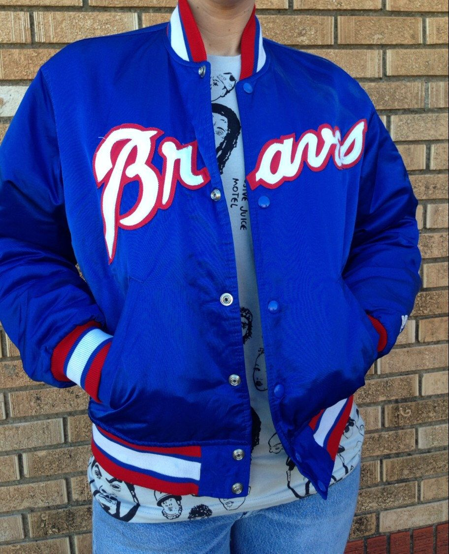 Sweet Vintage Atlanta Braves Satin Starter Baseball Jacket Early 1990 S Georgia Size Medium By Driftervtg On Etsy Null Retro Jacket Jackets Atlanta Braves
