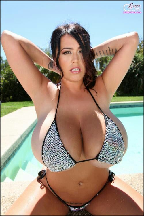 Is that bikini too small for Leanne Crow ?