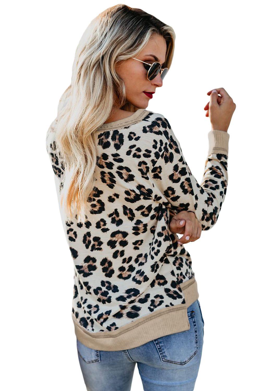 White Leopard Print Off Sweatshirt Leopard Print Sweatshirt Printed Sweatshirts Leopard Print [ 1500 x 1001 Pixel ]